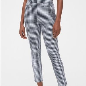 Gap Ankle Checkered Black & White Pants 4